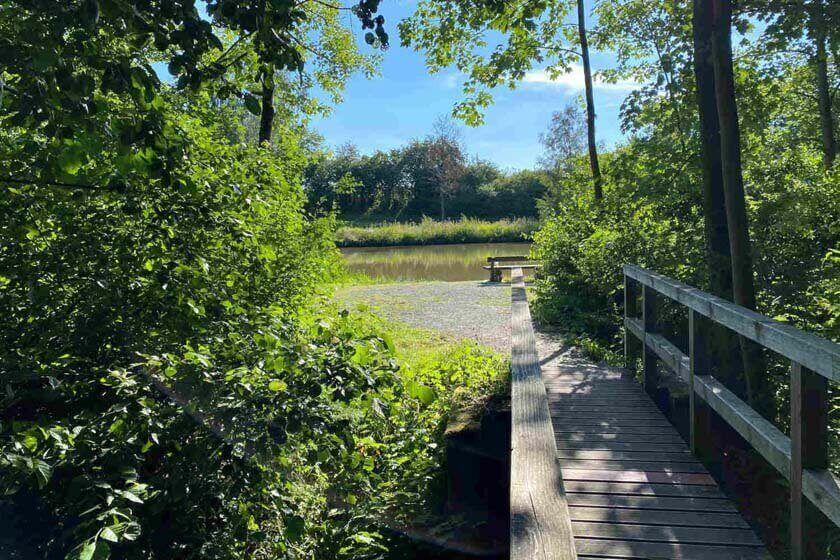Holzbrücke als Zugang zum Weddelsee
